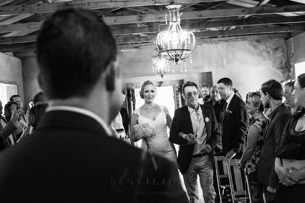Bride walking down the aisle, The Nutcracker, Parys weddings, Free State wedding Photographer