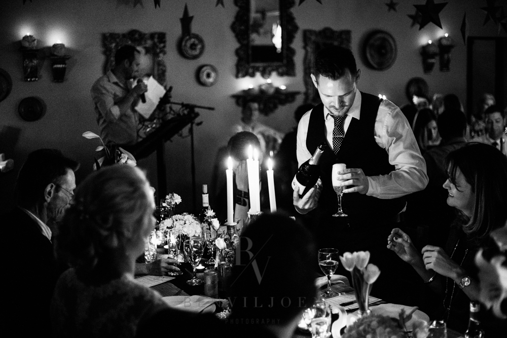Wedding speeches during reception at The Nutcracker wedding venue