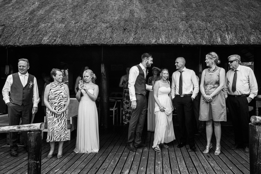Garonga deck, wedding guests, safari wedding