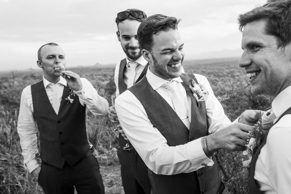 Groom Groomsmen on safari, safari wedding vibes, Garonga weddings