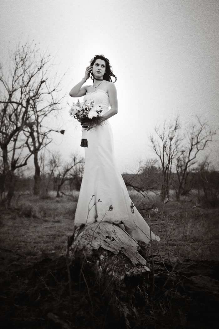 bride in game reserve South Africa