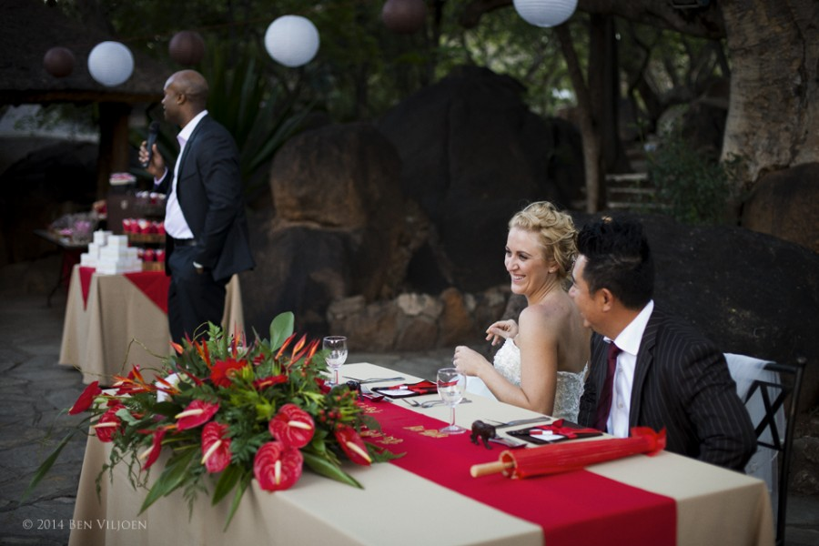 wedding speeches, outdoor wedding reception, bushveld wedding reception