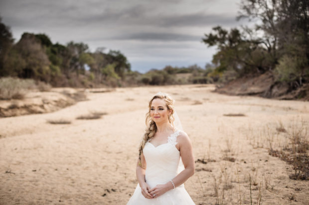 bride in Africa, African wedding, African safari wedding, destination wedding Kruger Park