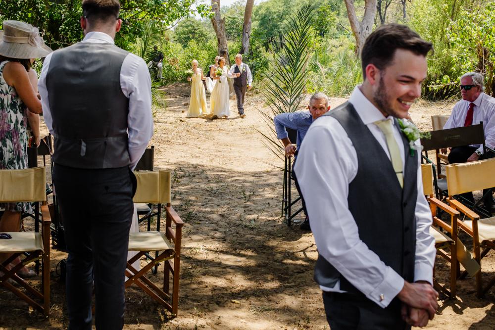 Garonga weddings, excited groom