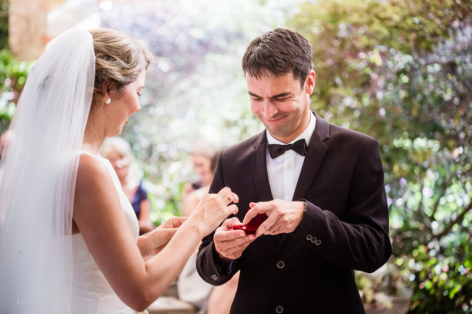 exchanging the rings plettenberg bay wedding