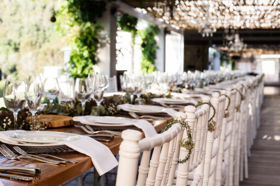 table settings western cape weddings