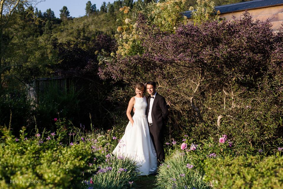 Bride and groom Rose Pavillion