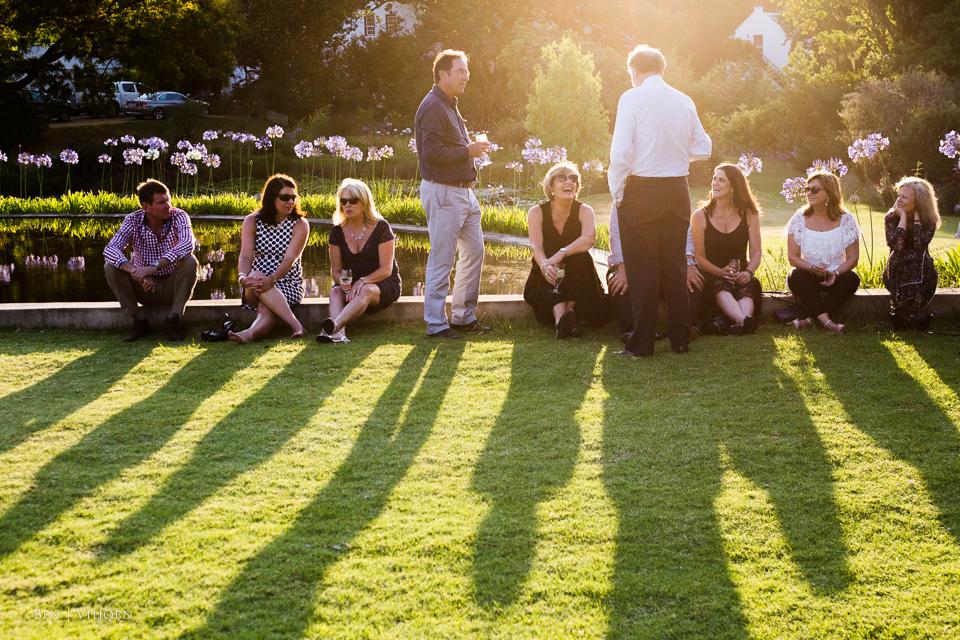 Guests enjoying the last sunlight at The Rose Pavillion Plettenberg Bay