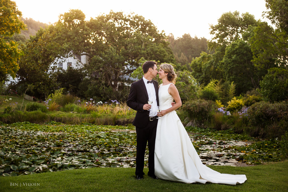 Bride and Groom Rose Pavillion Plettenberg Bay