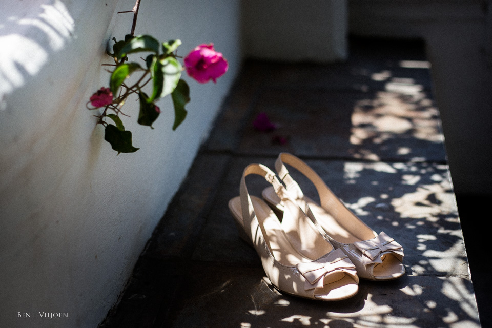 wedding shoes bougainvillea