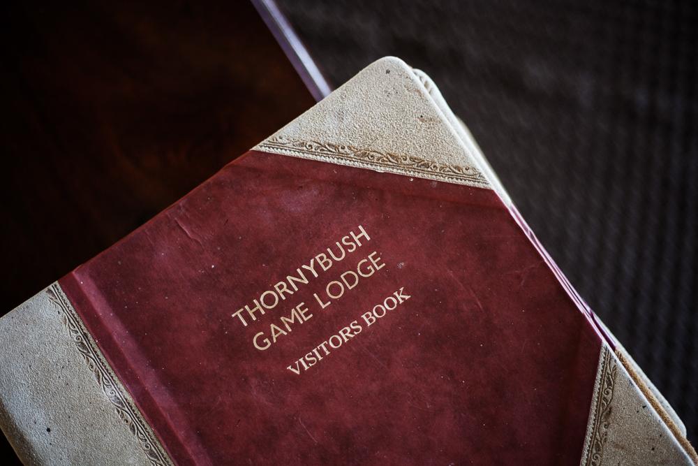 Thornybush visitor book