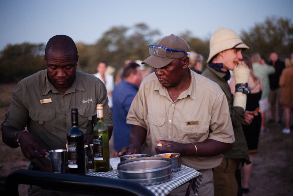 Sundowners at Thornybush game reserve