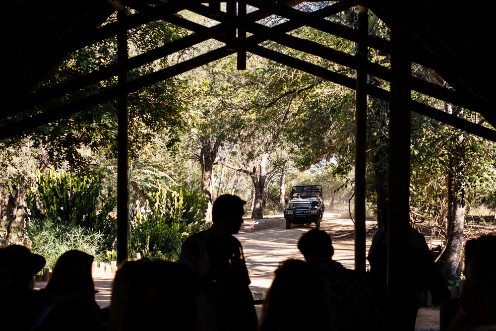 Thornybush guests waiting for game drive