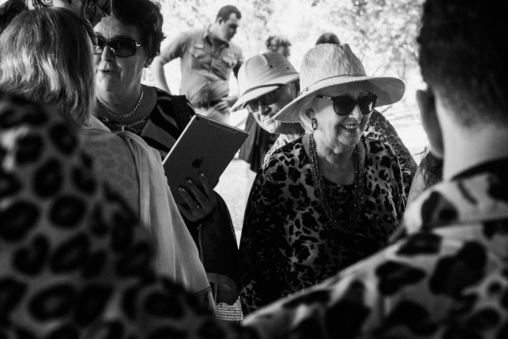 Thornybush wedding guests interacting