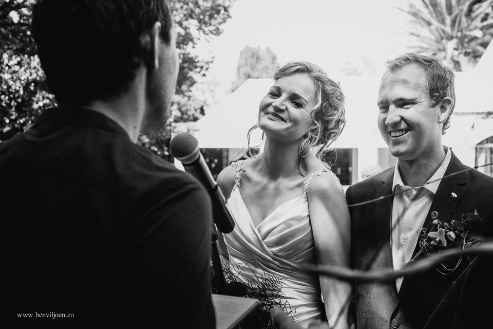Delightful wedding ceremony at Secret Place in Parys
