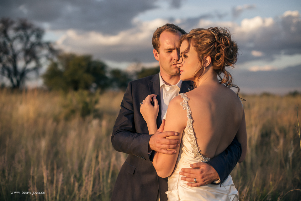 Beautiful afternoon light on this bride and groom in Parys at the Dog & Fig brewery.