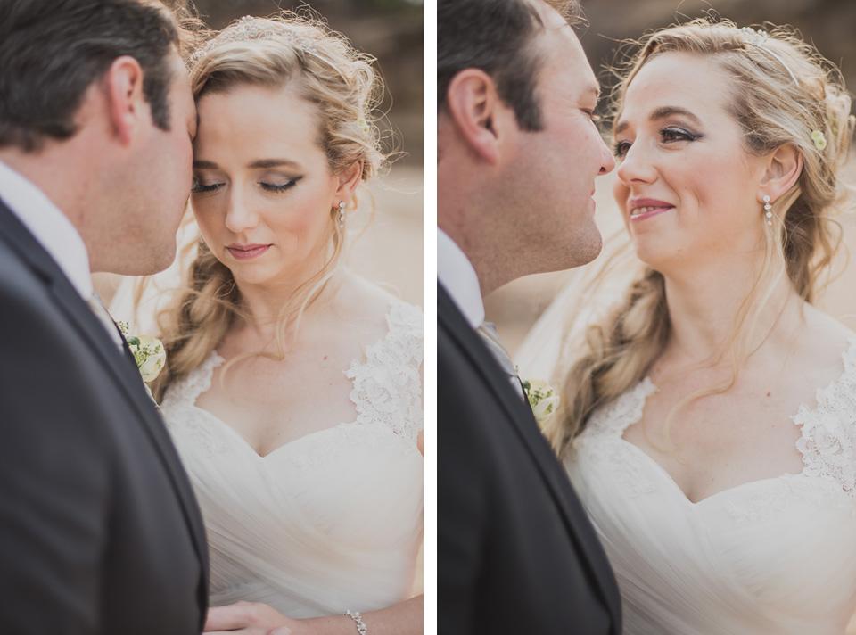 soft portraits of bride and groom together near Kruger National Park
